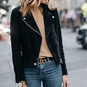 Blank NYC Black Suede Jacket